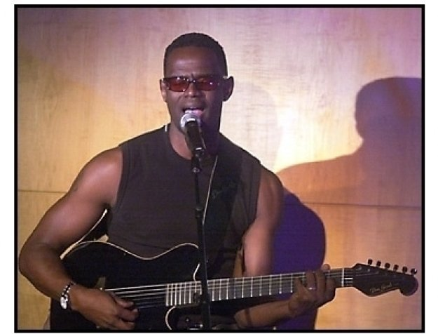 Brian McKnight at the MSN Music in High Places Party