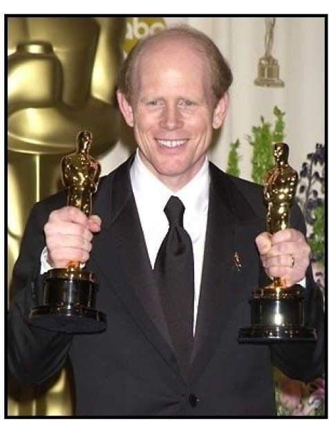 Ron Howard backstage at the 2002 Academy Awards