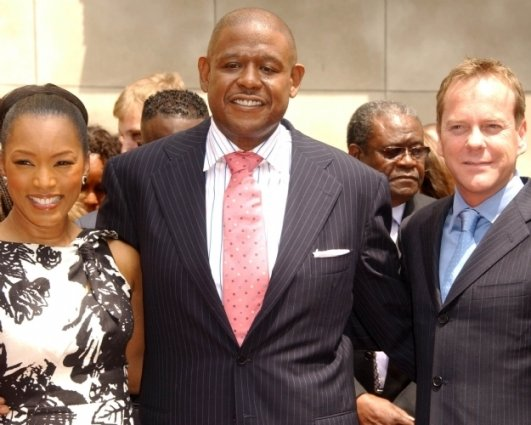 Angela Bassett with Forest Whitaker and Kiefer Sutherland