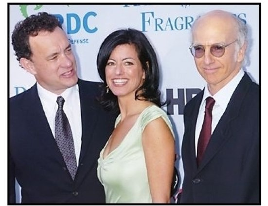 """Tom Hanks, Laurie David and Larry David at the NRDC's """"Earth to L.A.!-The Greatest Show on Earth"""" Benefit"""