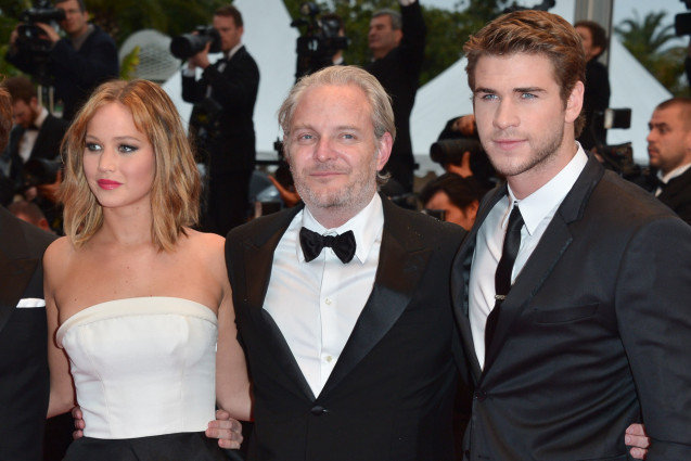 Francis Lawrence, Jennifer Lawrence and Liam Hemsworth